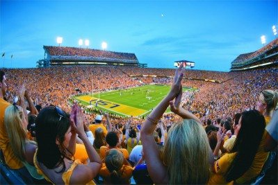 LSU Gold Game Student Section