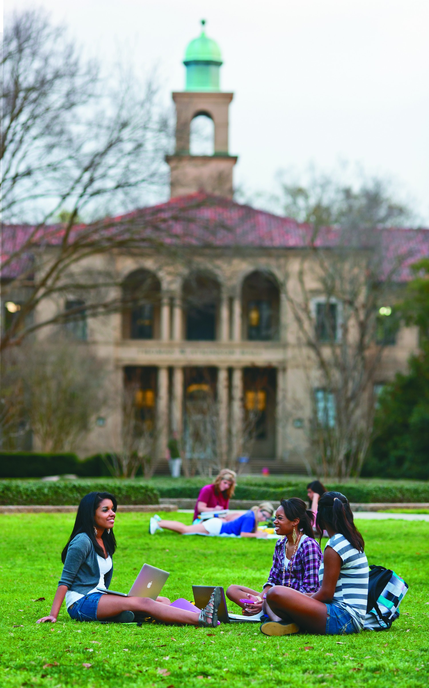 Students studying at The Quad